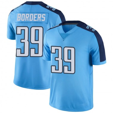 Men's Nike Tennessee Titans Breon Borders Color Rush Jersey - Light Blue Limited