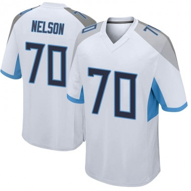 Men's Nike Tennessee Titans Chris Nelson Jersey - White Game