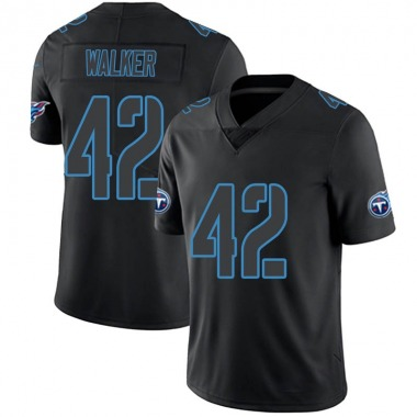 Men's Nike Tennessee Titans D'Andre Walker Jersey - Black Impact Limited
