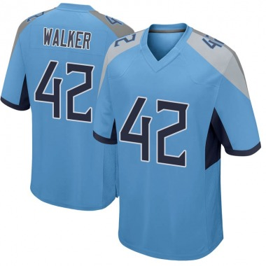Men's Nike Tennessee Titans D'Andre Walker Jersey - Light Blue Game
