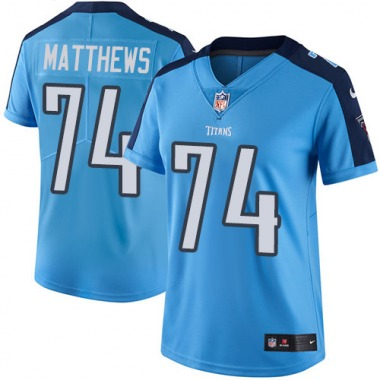 Women's Nike Tennessee Titans Bruce Matthews Team Color Jersey - Light Blue Limited