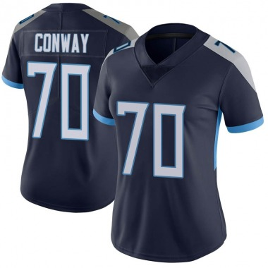 Women's Nike Tennessee Titans Cody Conway Vapor Untouchable Jersey - Navy Limited