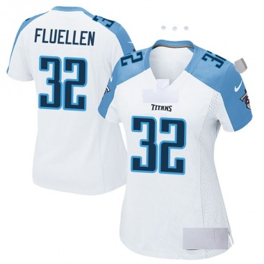 Women's Nike Tennessee Titans David Fluellen Jersey - White Game