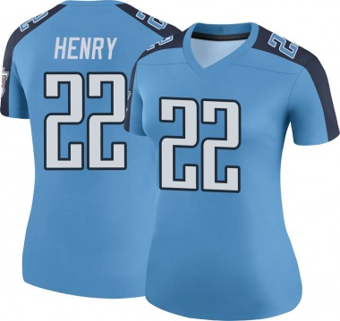 Women's Nike Tennessee Titans Derrick Henry Color Rush Jersey - Light Blue Legend