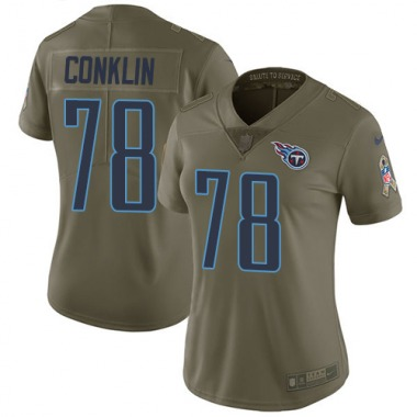 Women's Nike Tennessee Titans Jack Conklin 2017 Salute to Service Jersey - Olive Limited