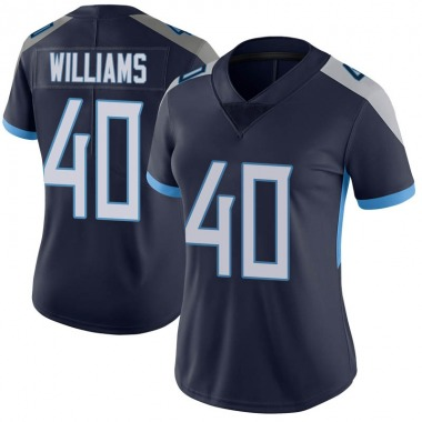 Women's Nike Tennessee Titans Jordan Williams Vapor Untouchable Jersey - Navy Limited