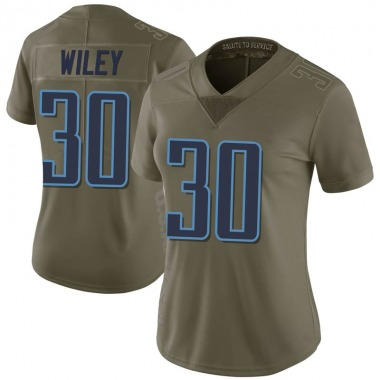 Women's Nike Tennessee Titans LaDarius Wiley 2017 Salute to Service Jersey - Green Limited