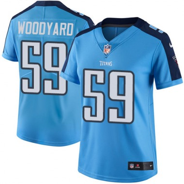 Women's Nike Tennessee Titans Wesley Woodyard Color Rush Jersey - Light Blue Limited