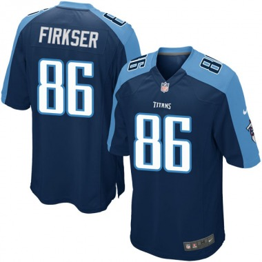Youth Nike Tennessee Titans Anthony Firkser Alternate Jersey - Navy Blue Game