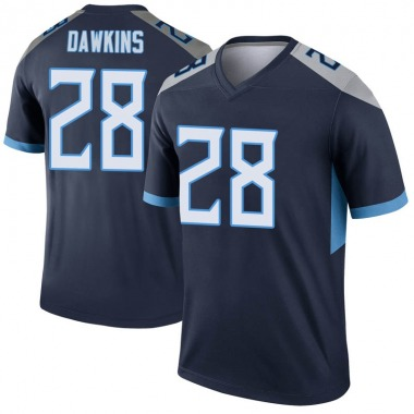 Youth Nike Tennessee Titans Dalyn Dawkins Jersey - Navy Legend