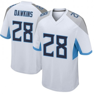 Youth Nike Tennessee Titans Dalyn Dawkins Jersey - White Game