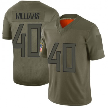 Youth Nike Tennessee Titans Jordan Williams 2019 Salute to Service Jersey - Camo Limited